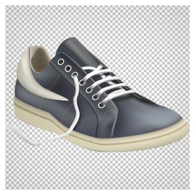 دانلود کفش مردانه کتانی خاکستری بصورت فایل دوربری شده بدون پس زمینه