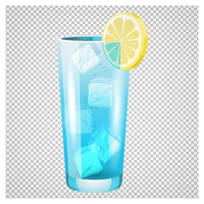 دانلود تصویر لیوان آب بهمراه تکه های یخ بصورت فایل بدون بکگرند و ترانسپرنت