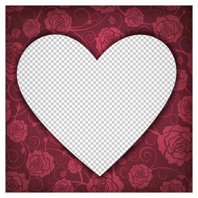 دانلود فریم و قاب قلبی کارتونی بصورت فایل دوربری شده و فاقد بکگرند