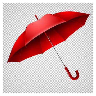 دانلود فایل png چتر بارانی قرمز به صورت دوربری شده و فاقد پس زمینه
