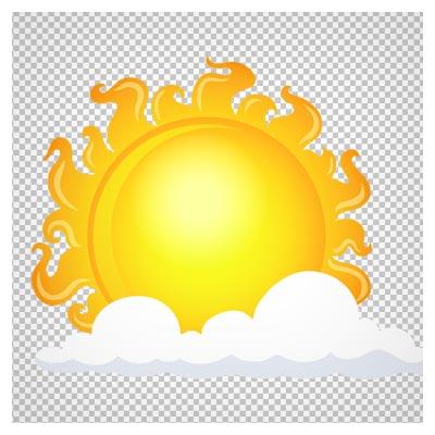 دانلود خورشید بزرگ پشت ابر کوچک به صورت فایل ترانسپرنت و دوربری شده