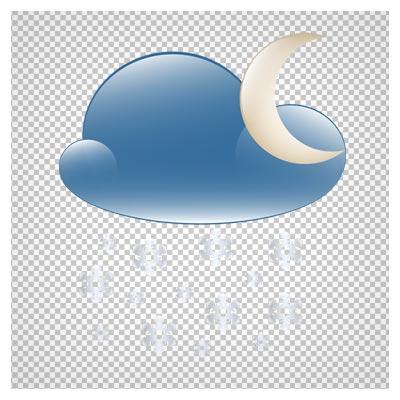 دانلود تصویر png شب ابری زمستانی کارتونی بصورت دوربری شده فاقد پس زمینه