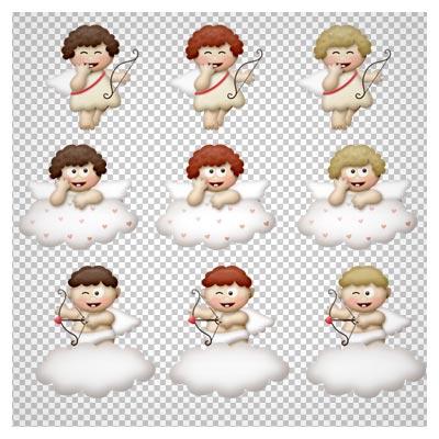 دانلود تصویر png فرشته های کوچولوی کارتونی به صورت دوربری شده