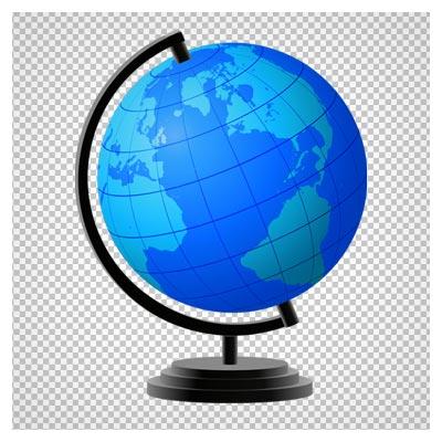 دانلود کره جغراقیای آبی رو میزی بصورت فایل ترانسپرنت و فاقد پس زمینه