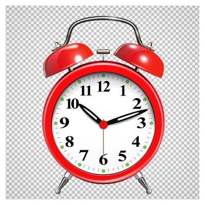 دانلود ساعت زنگ دار قدیمی قرمز دوربری شده و بدون پس زمینه