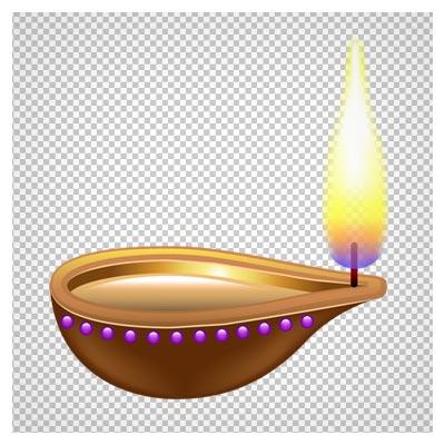 دانلود شمع قدیمیه فتیله دار (شمع مقدس) به صورت ترانسپرنت و بدون پس زمینه