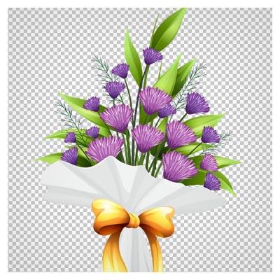 دانلود دسته گل های صحرایی بنفش بصورت فایل دوربری شده فاقد بکگرند
