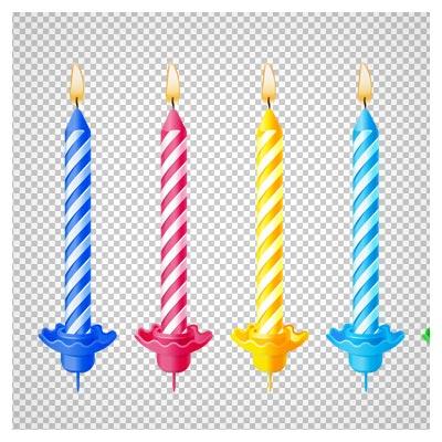 دانلود فایل png شمع های رنگی تولد بصورت دوربری شده فاقد پس زمینه