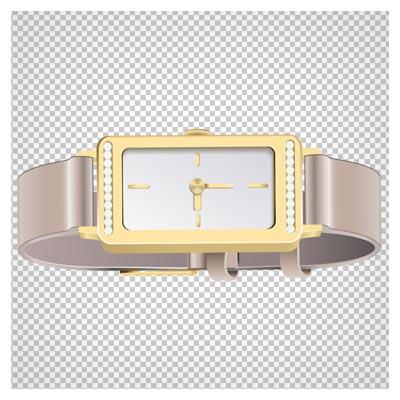 دانلود ساعت مچی زنانه صدفی با رنگ طلایی بصورت فایل بدون بکگرند و دوربری شده