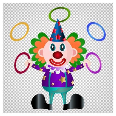 دانلود فایل بدون پس زمینه و دوربری شده دلقک سیرک بصورت کارتونی با فرمت png