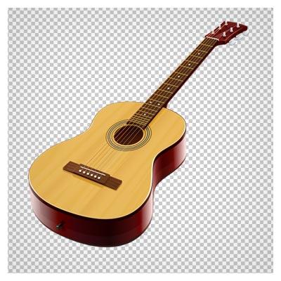 دانلود فایل دوربری شده گیتار چوبی قدیمی با فرمت png