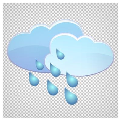 دانلود دو ابر بارانی کارتونی بصورت فایل دوربری شده فاقد بکگرند