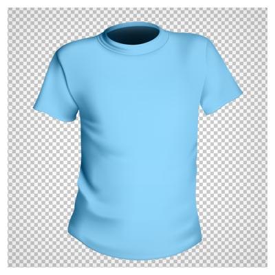 دانلود تصویر تی شرت پسرانه آبی آسمانی ساده بصورت فایل دوربری شده بدون بکگرند