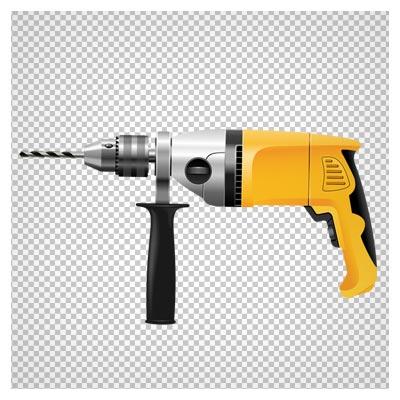 دانلود دریل زرد کارتونی (مته و دریل) بصورت فایل ترانسپرنت و فاقد بکگرند