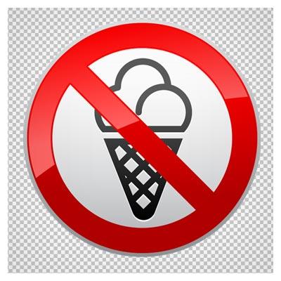 دانلود تابلوی بستنی خوردن ممنوع بصورت فایل دوربری شده و فاقد بکگرند