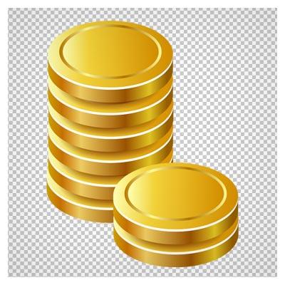 دانلود سکه های طلا بدون طرح و ساده به صورت فایل ترانسپرنت و بدون پس زمینه