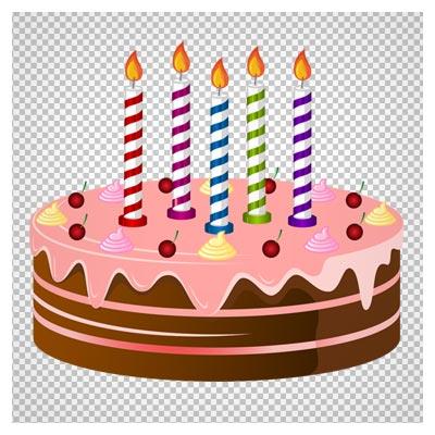 دانلود فایل دوربری شده کیک آلبالویی جشن تولد با فرمت png