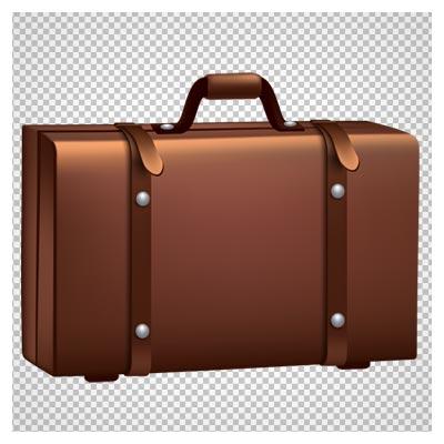 دانلود کیف و چمدان قدیمی چرمی با فرمت png و بدون پس زمینه