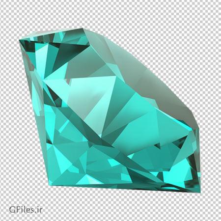 دانلود الماس فیروزه ای درخشان بدون پس زمینه و دوربری شده با فرمت png