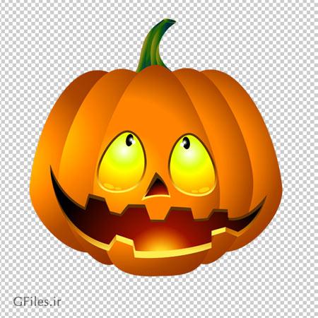 دانلود کدو تنبل هالووین دوربری شده و فاقد بکگرند با فرمت png