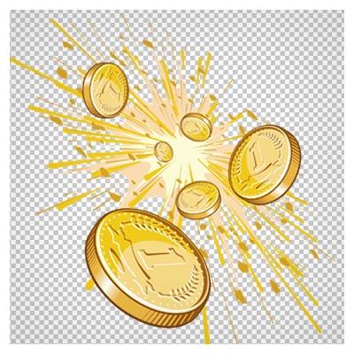 دانلود فایل ترانسپرنت سکه های پول طلایی با فرمت png و فاقد بکگرند
