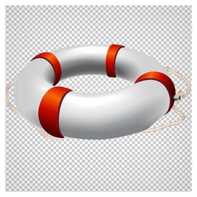 دانلود تیوب نجات سفید طناب دار دوربری شده با فرمت png