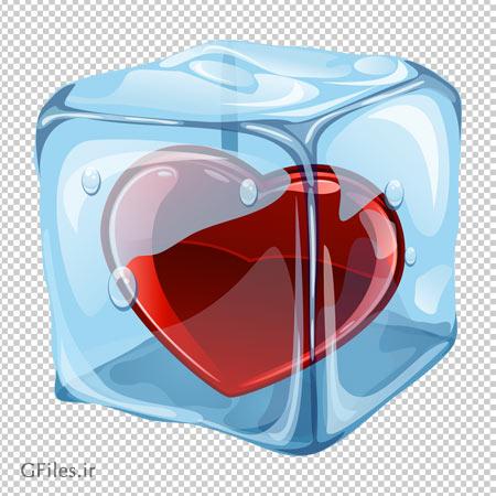 دانلود فایل بدون پس زمینه قلب یخ زده با فرمت png