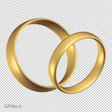 دانلود یک جفت حلقه طلایی ساده دوربری شده و فاقد بکگرند