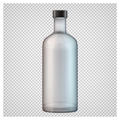 دانلود بطری شیشه ای درب دار به صورت ترانسپرنت و فاقد بکگرند