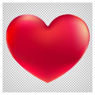 دانلود قلب ساده قرمز بدون پس زمینه و دوربری شده با فرمت PNG