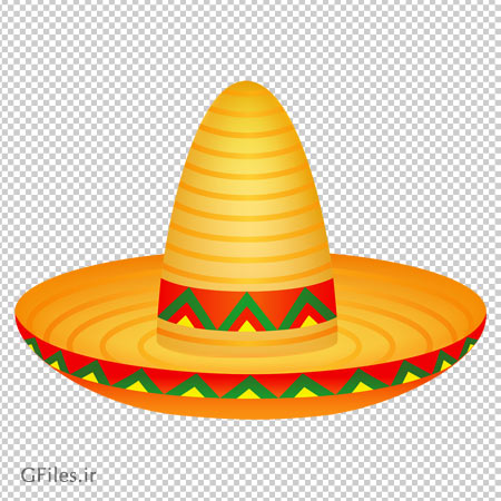 دانلود فایل کلاه مکزیکی دوربری شده با فرمت png (بدون پس زمینه)