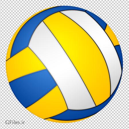 دانلود توپ والیبال سه رنگ با فرمت png و بدون پس زمینه
