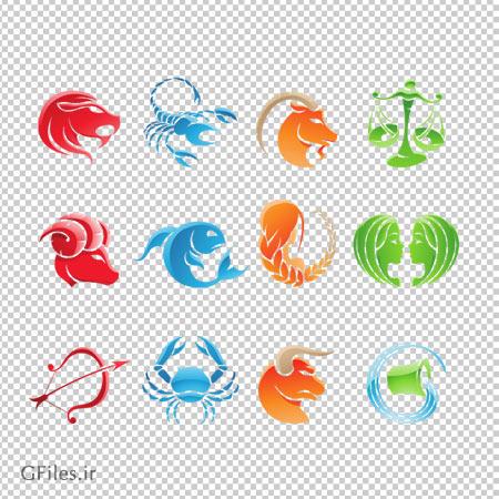 دانلود فایل ترانسپرنت نماد رنگارنگ سمبل و علائم ماه ها به صورت png