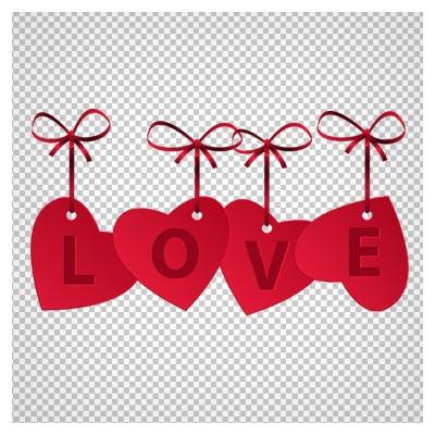دانلود فایل ترانسپرنت لاو ( عشق ) قلبی با فرمت png
