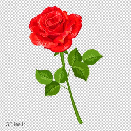 دانلود شاخه گل مصنوعی رز کارتونی بصورت فایل با پسوند png و فاقد پس زمینه