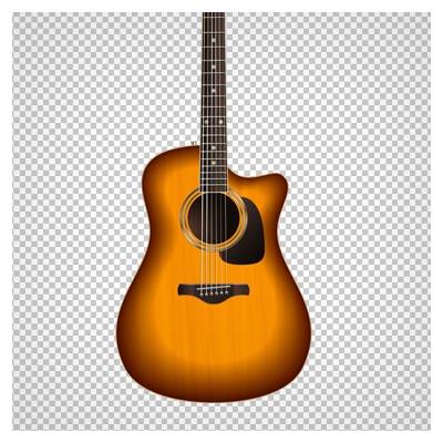 دانلود گیتار چوبی طرح دار بصورت فایل با پسوند png و بدون بکگرند