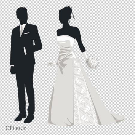 دانلود کاراکتر کارتونی عروس و داماد بصورت فایل دوربری شده و فاقد بکگرند