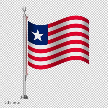دانلود فایل پرچم رو میزی ایستاده کشور لیبریا بدون پس زمینه