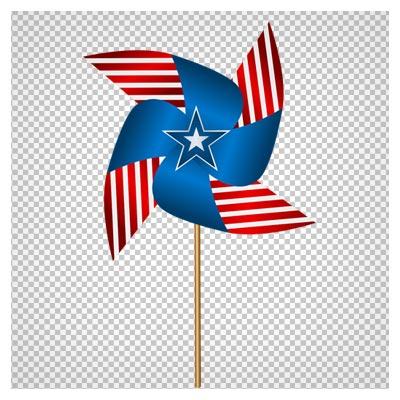 دانلود پرچم فرفره شکل آمریکا بدون پس زمینه و پسوند png