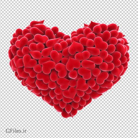 دانلود قلب بزرگ تشکیل شده از قلبهای کوچک به صورت ترانسپرنت و بدون پس زمینه