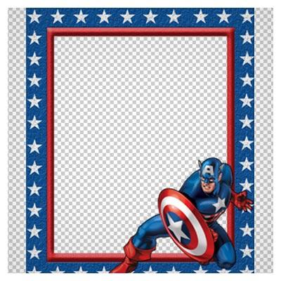 دانلود فریم و قاب با طرح کاپیتان آمریکا ( کودکانه ) با فرمت png
