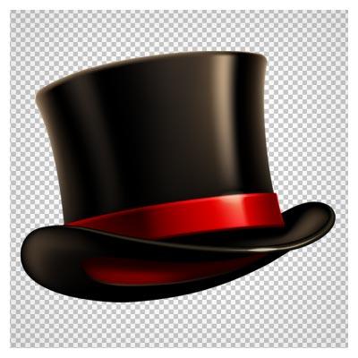 دانلود فایل PNG کلاه شعبده بازی مشکی براق به صورت ترانسپرنت و فاقد بکگرند
