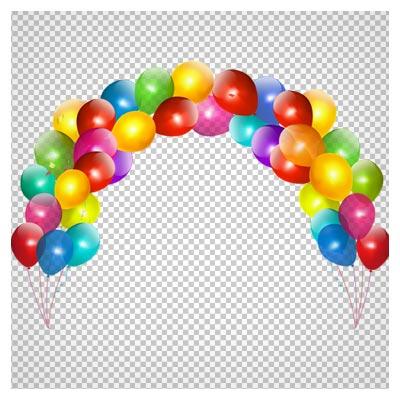 دانلود فریم کودکانه بادکانک های رنگی (بادکنک های تزئینی سر درب) با فرمت png