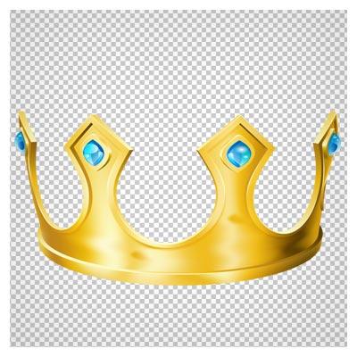 دانلود تاج طلا با الماس های فیروزه ای با پسوند png و بدون پس زمینه