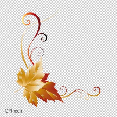 دانلود فایل png قاب برگهای پاییزی بدون پس زمینه و دوربری شده