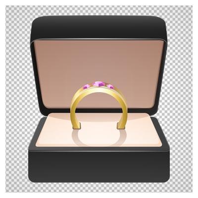 دانلود تصویر انگشتر طلا با نگین های صورتی با پسوند png و فاقد پس زمینه