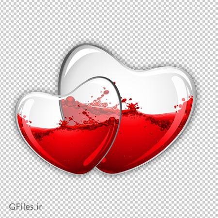 دانلود خون درون قلب های شیشه ای با پسوند png و بدون بکگرند