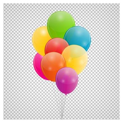 دانلود تصویر دسته بادکنک های جشن رنگارنگ بصورت فایل دوربری شده فاقد پس زمینه
