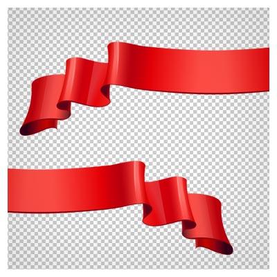 دانلود نوار روبانی قرمز موجی بصورت فایل دوربری شده بدون بکگرند