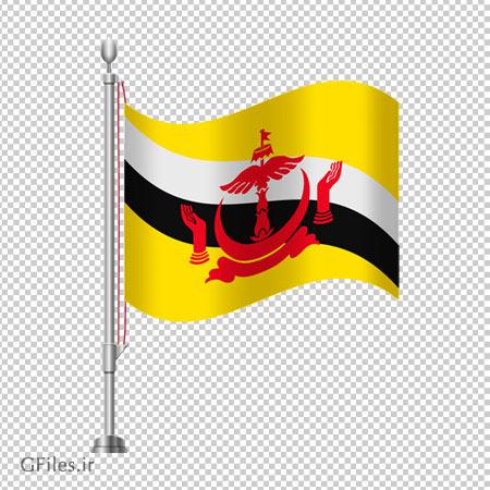 دانلود پرچم رومیزی کشور برونئی بصورت فایل دوربری شده و فاقد پس زمینه